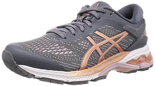 Asics Damen Gel-Kayano 26 Running Shoe, Metropolis/Rose Gold, 40 EU