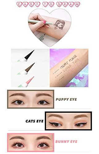 Product Image 3: Merry Monde Multicolor Super Slim Long Lasting Eyeliner Vegan Easy Ultra-Fine Felt Tip Pen Liquid Korean K Beauty Waterproof Mechanical Eye Liner Makeup (Salmon Pink)