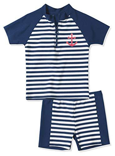 Playshoes Baby - Jungen Schwimmbekleidung, gestreift 460112 2 tlg. Bade-Set Maritim, Gr. 86/92, Mehrfarbig (900 original)