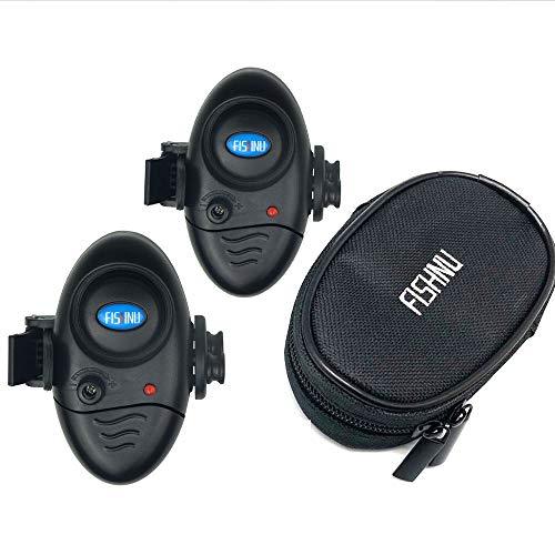 FISHNU Volume Adjustable Fishing Alarms,Waterproof Nylon Case Gift Packing Fish Bite Alarm...