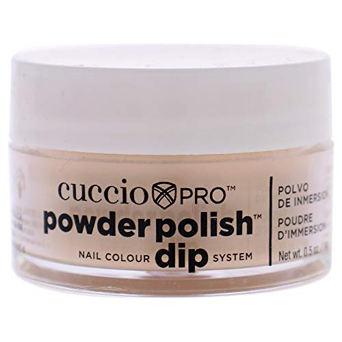 Cuccio Pro Powder Polish Dip - Flattering Peach - Nail Lacquer for Manicures & Pedicures, Easy & Fast Application/Removal - No LED/UV Light Needed - Non-Toxic, Odorless, Highly Pigmented - 0.5 oz