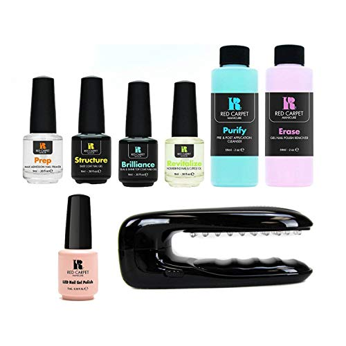 Red Carpet Manicure Gel Polish Starter Kit with New Portable Light, 2 Ounce