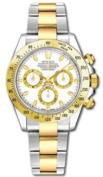 Rolex Cosmograph Daytona 116523 Yellow Gold with Steel Men's Watch