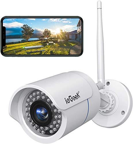ieGeek 1080P Telecamera IP Camera WIFI Videocamera di Sorveglianza Esterno Videosorveglianza con Rilevamento del Movimento, Visione Notturna fino a 25m, Vista a Distanza via Smart Phone/PC Windows