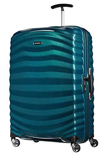 Samsonite Lite-Shock - Spinner L Koffer, 75 cm, 98,5 L, Blau (Petrol Blue)
