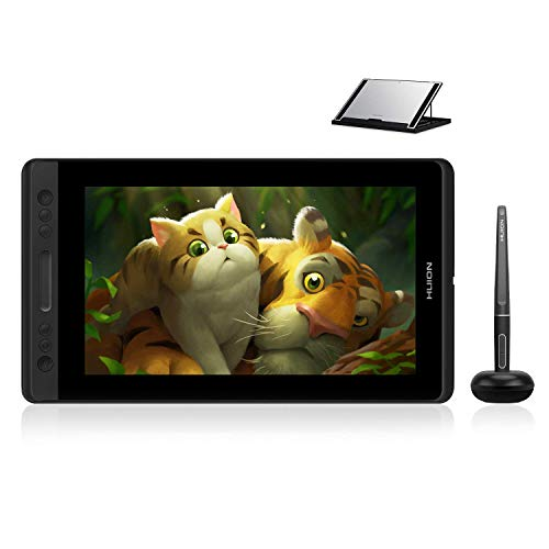 Huion KAMVAS Pro 13 GT-133 Drawing Monitor Pen Display 13.3 Inches Tilt Function Battery-Free Stylus 8192 Pen Pressure (GT-133 with Stand) (Renewed)