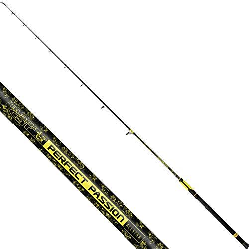 Black Cat Premium - Canna da pesca Perfect Passion Allstar, 2,10 m, 200 g, colore: Nero/Giallo