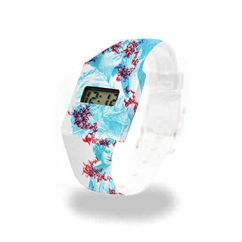 Spectre - Pappwatch - Paperwatch - Digitale Armbanduhr im trendigen Design - aus absolut reissfestem und wasserabweisenden Tyvek - Made in Germany - Standard