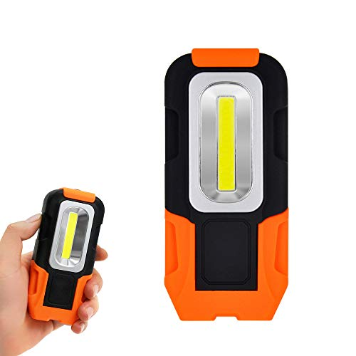 ポータブル 電池式3W COB LED作業用灯 ワーク ライト携帯式 明るい LED 懐中電灯 フラッシュ ライト フック...