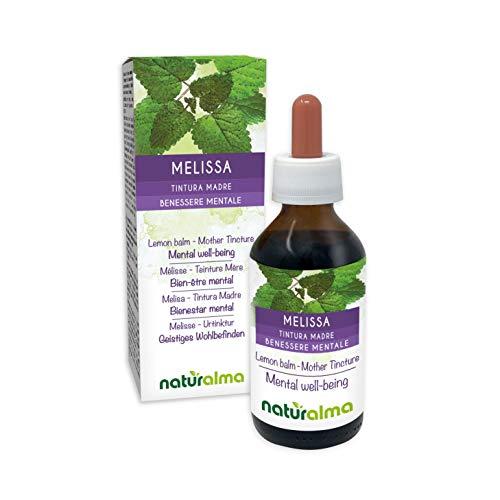 MELISSE oder ZITRONENMELISSE (Melissa officinalis) Blätter Alkoholfreier Urtinktur NATURALMA | Flüssig-Extrakt Tropfen 100 ml Nahrungsergänzungsmittel | Veganer