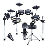 Alesis Drums Surge Mesh Kit Bundle – Complete Electric Drum Set With an Eight-Piece Mesh Electronic Drum Kit, Drum Throne, Headphones and Drum Sticks