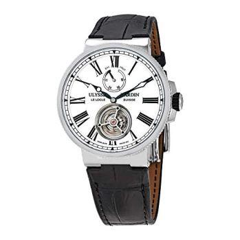 Ulysse Nardin Marine Tourbillon Automatic White Enamel Dial Men's Watch 1283-181/E0