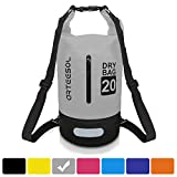 arteesol Dry Bag, Waterproof Dry Bag 5L/10L/20L/30L Backpack with Adjustable Shoulder Strap Perfect for Kayaking/Boating/Canoeing/Fishing/Rafting/Swimming/Camping/Snowboarding (20L, Grey)