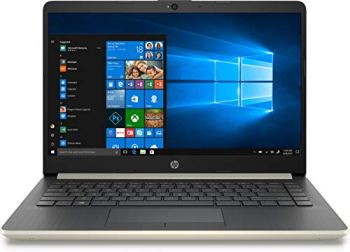 """HP 2019 14"""" Laptop - Intel Core i3 - 8GB Memory - 128GB Solid State Drive - Ash Silver Keyboard Frame (14-CF0014DX)"""
