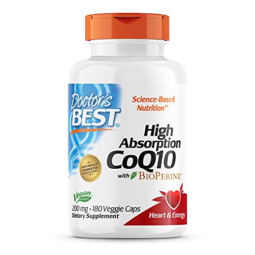 Doctor's Best High Absorption CoQ10 with BioPerine, Non-GMO,...