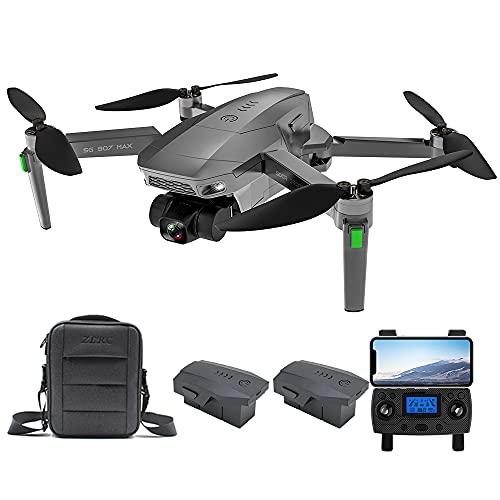 Consegna 3~7 Giorni, ZLL SG907 MAX GPS Drone con Telecamera 4K HD, Gimbal WiFi FPV a 3 Assi, 5G WiFi FPV, Distanza di Controllo di 800m Quadricottero RC Droni, 2 Batterie