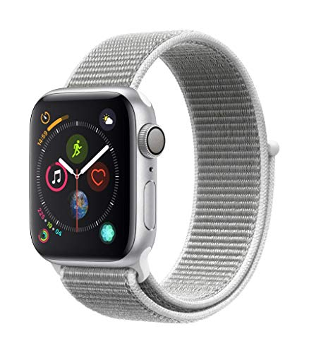 Apple Watch Series 4 (GPS, 40mm) Aluminiumgehäuse Silber - Sport Loop Muschel