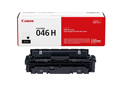 Canon Genuine Toner, Cartridge 046 Black, High Capacity (1254C001), 1 Pack, for Canon Color imageCLASS MF735Cdw, MF733Cdw, MF731Cdw, LBP654Cdw Laser Printers