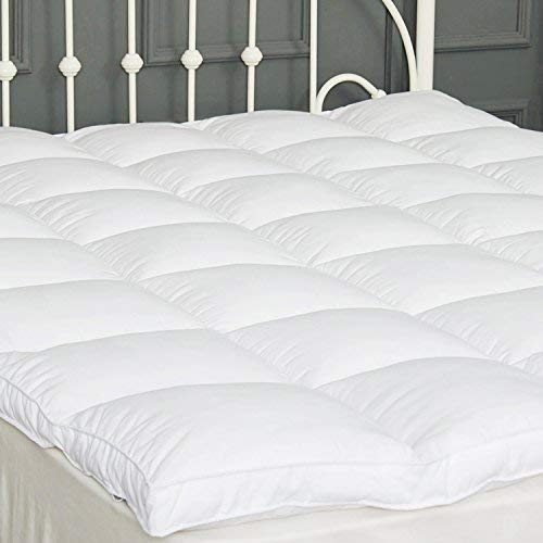 SUFUEE Mattress Topper Twin Down Alternative Mattress Pad 2' Extra Thick Mattress Cover Overfilled Fluffy and Firm Pillow Top