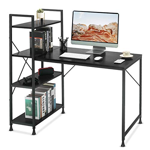 Comhoma Computer Desk with Shelves Study Writing Table Bed Room...