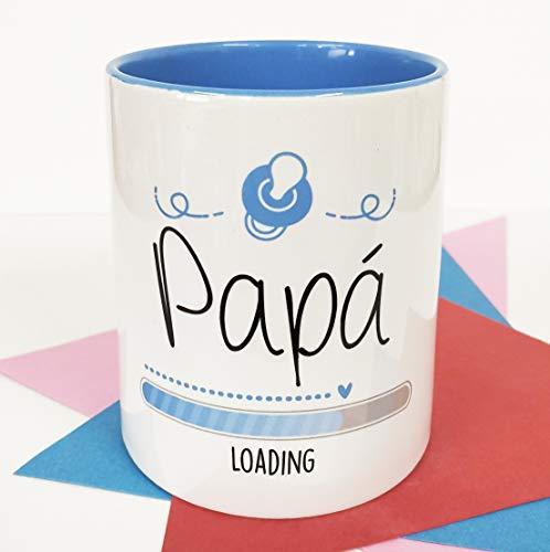 La Mente es Maravillosa - Taza con frase y dibujo divertido (Papá Loading) Regalo original para FUTURO PAPÁ
