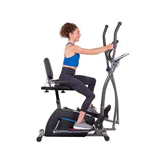 Body Champ 3-in-1 Exercise Machine, Trio Trainer, Elliptical and Upright Recumbent Bike 7