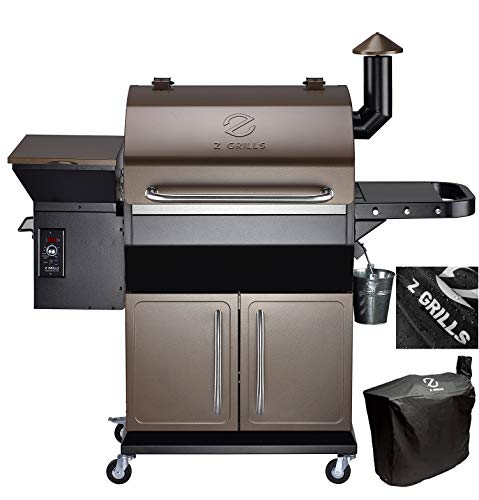 Z GRILLS Wood Pellet Grill & Smoker Auto Digital Temperature Control Feeding Pellets, 1000 sq. inch Cooking Area- Grill, Smoke, Bake, Sear, Roast, Braise, BBQ and Char-Grill, Free Grill Cover