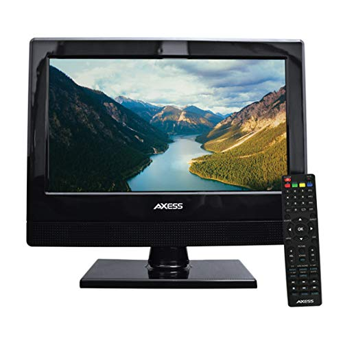 AXESS TV1705-13 13-Inch LED 1080P HDTV, Features 1xHDMI/Headphone Inputs, Digital Tuner with Full Function Remote, 2 Way Power AC/DC