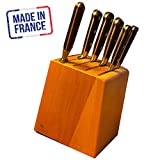 32 DUMAS IDEAL Kitchen Essentials Knife Block Set, 7 Piece, Fully Forged, Made in Thiers France by Rousselon Dumas Sabatier