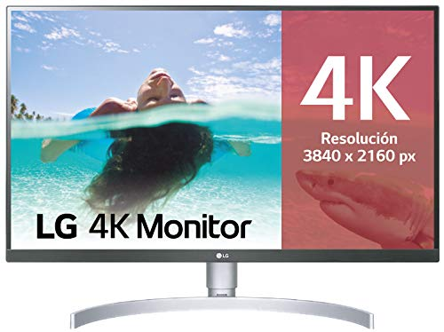 "LG 27UL850-W - Monitor 4K UHD de 68,6 cm (27"") con Panel IPS (3840 x 2160 píxeles, 16:9, 350 cd/m², sRGB >99%, 1000:1, 5 ms, 60 Hz) Color Plata y Blanco"