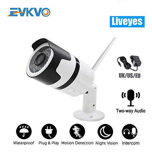 1080P Two Way audio Wifi IP Camera Onvif Outdoor Weatherproof Infrared Night Vision Security Video Surveillance Camera Liveyes 1080P-64GB