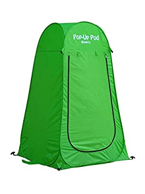 INNOVATIVE POP-UP TENT: The Gigatent 6 foot instant privacy tent offers you instant private space for camping bathroom & potty use, outdoor showers, changing clothes, for use as soft rain shelter and more. And without any hassles of tedious installat...