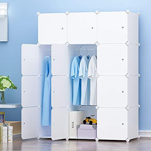 PREMAG - Appendiabiti portatile, armadietto combinato, armadio modulare salvaspazio, organizer ideale per libri, giocattoli