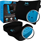 Everlasting Comfort Memory Foam Seat Cushion and Lumbar Pillow Combo - Gel Infused and Ventilated -...