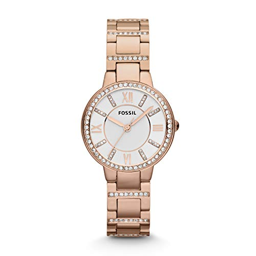 Fossil Damen Analog Quarz Uhr mit Edelstahl Armband ES3284