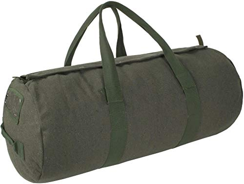 normani Canvas Seesack Universal Tasche aus Reiner Baumwolle Farbe Oliv Größe 70L