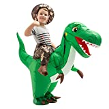 GOOSH Inflatable Costume for Kids,Inflatable Adult Costume,Dinosaur Inflatable Costume,Inflatable Halloween Costume Kids,trex Inflatable Costume Kids (7-10 Yrs 55' Height)