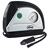 Slime 40050 12V Tire Inflator Portable Air Compressor Auto Pump with 100 psi Gauge, Long Hose and LED Light