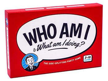 Who Am I & What Am I Doing? - The side-splitting party game for adults, couples and teens (2-10 players)