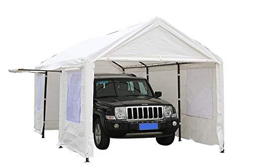 SORARA Carport 10 x 20 ft Heavy Duty Canopy Garage Car...