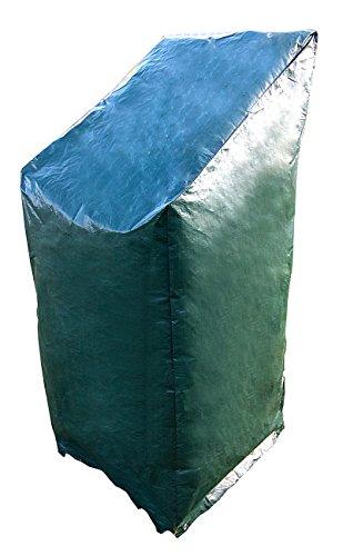 Royal Gardineer Gartenstuhlabdeckung: Gewebe-Abdeckplane für Stapel-Gartenstühle, 65 x 100/150 x 65 cm (Stuhlabdeckung)