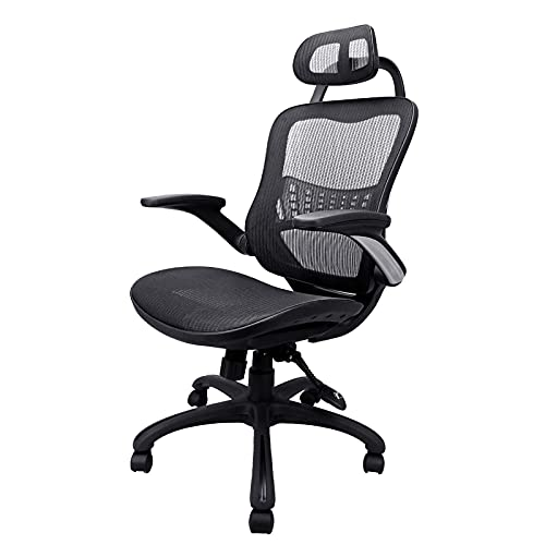 Product Image 1: Komene Home Office Chair - Ergonomic Desk Chair high Back Mesh Computer Chair with Lumbar Support & with Headrest, Thick Seat Cushion Recline Chair Swivel Task Chair