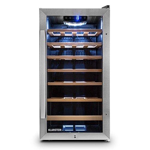 Klarstein Vivo Vino 26 - frigorifero per vini e bevande, 88 L, 26 bottiglie, funzionamento...