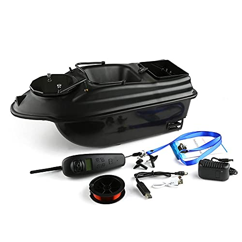 Very100 500m GPS Telecomando Wireless Bait Bait Boat 2 Hoppers, Display LCD GPS Fishfinder, batterie di Ricambio, Borsetta Triangolo, ecoscandaglio da Pesca.WQQWQQ-8521 (Color : Bait Boat)