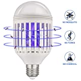 Lukasa 2 in 1 LED Mosquito Lamp, E27 Bulb with Electric UV Light Insect...