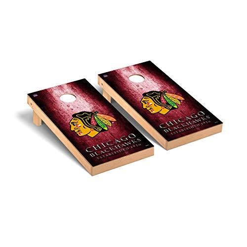 Victory Tailgate NHL Regulation Cornhole Game Set - Museum Version - Chicago Blackhawks