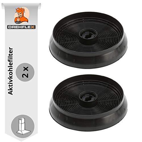 DREHFLEX - AK69-2 2 filtri al carbone attivo, filtro al carbonio, 145 mm adatto per cappe Refsta adatto per filtro a carbone K25.1