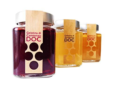 Gelatine di Vino di Sardegna DOC   Senza coloranti o aromi artificiali (Moscato di Sardegna DOC, 3 vasetti)