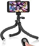 カメラスタンド スマホ三脚 ビデオカメラ三脚 三脚ホルダー ミニ Bluetooth リモコン付き 自撮り 360度回転