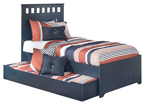 Ashley Furniture Signature Design - Leo Kids Bedset with Headboard, Footboard & Storage - Childrens Twin Size Panel...